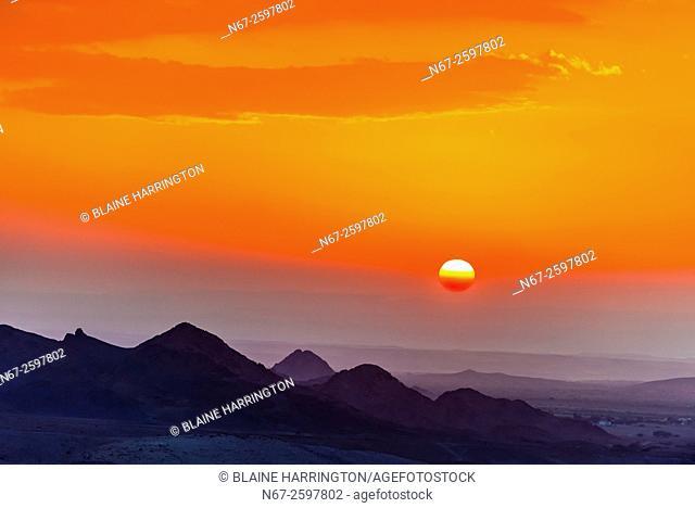 Sunset, Dana Biosphere Reserve, Wadi Feynan, Jordan