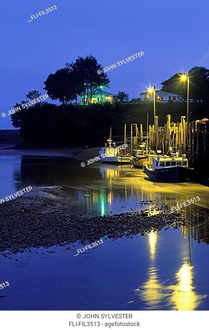 Low tide, Bay of Fundy, St  Martins, New Brunswick