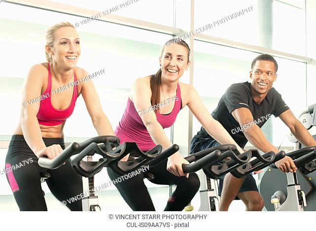 Riding exercise bikes