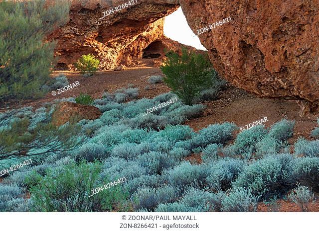 beneath London Bridge stone formation, Sandstone Western Australia