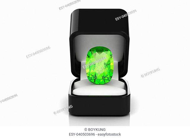 Peridot in a gift box