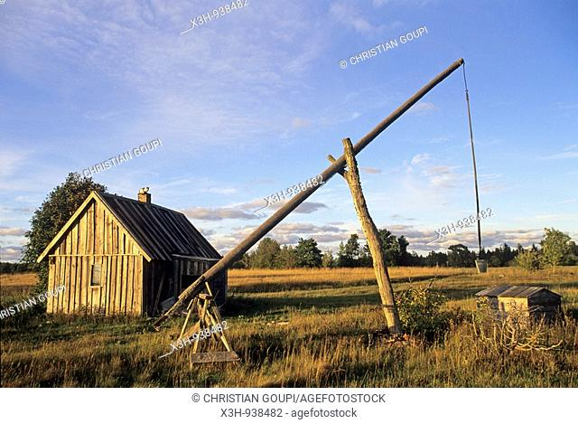 puits,region de Saare,Estonie,pays balte,europe du nord