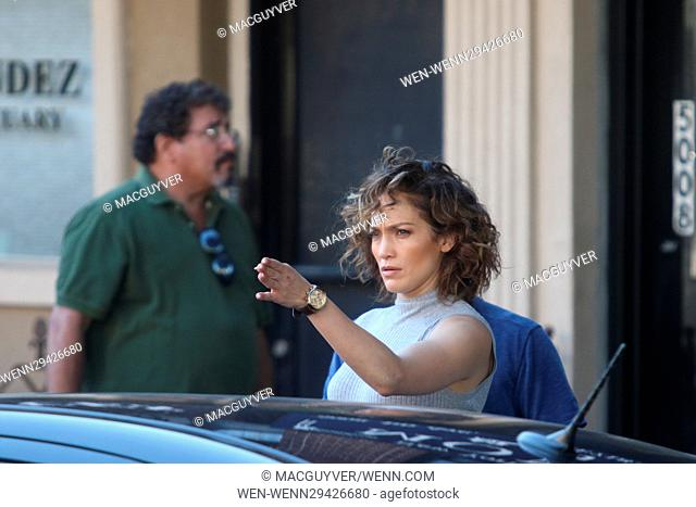 Jennifer Lopez and Ray Liotta film scenes for tv show 'Shades of Blue' on the streets of New York City Featuring: Jennifer Lopez Where: New York City, New York
