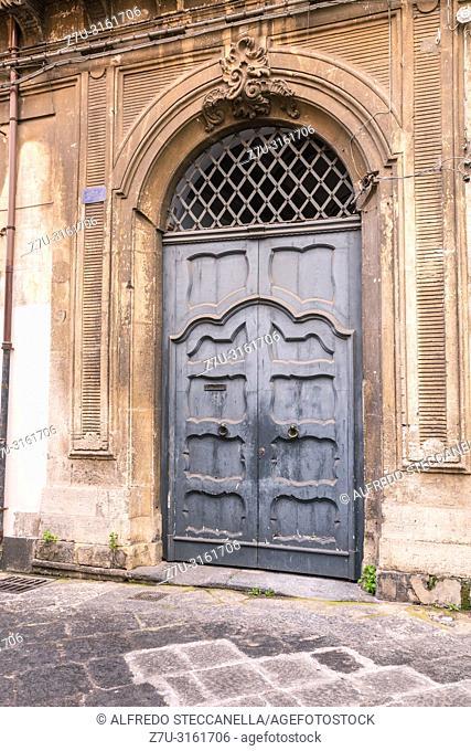 Ancient door of a Sicilian noble house