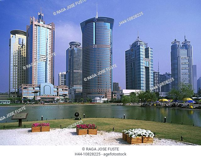 China, Asia, Shanghai, town, city, Pudong, skyscraper, architecture, moulder, skyline
