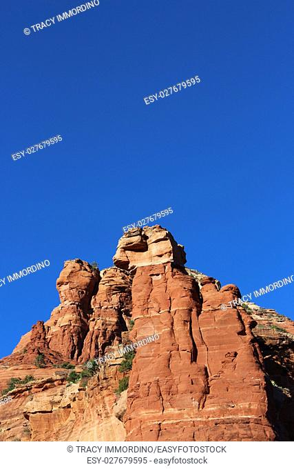 Close up of the Northern Boyton Canyon Spire on the Vista Trail in Sedona, Arizona, USA