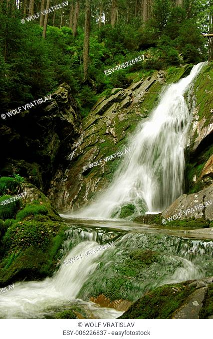 White Chasm Waterfall, Sumava National Park, the Southwestern Bohemia, Czech Republic