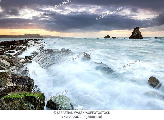 Mupe Bay, Jurassic Coast, UNESCO World Heritage Site, Dorset, England, United Kingdom, Europe