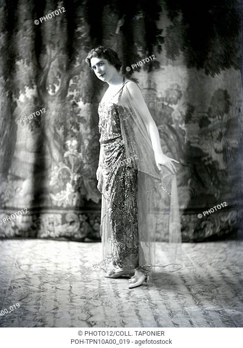 Mademoiselle Damiroff, French theatre comedian. c.1920