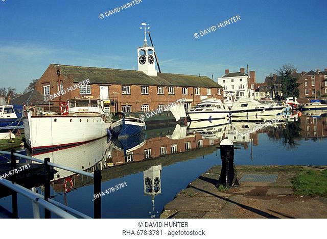 Canal basin, Stourport on Severn, Worcestershire, England, United Kingdom, Europe