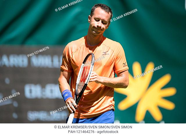 Philipp KOHLSCHREIBER (GER) has lost the match and is eliminated in the first round, frustrated, frustrated, late flushed, disappointed, disappointed