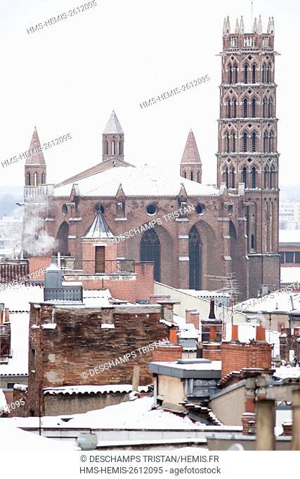 France, Haute Garonne, Toulouse, Jacobins church in winter