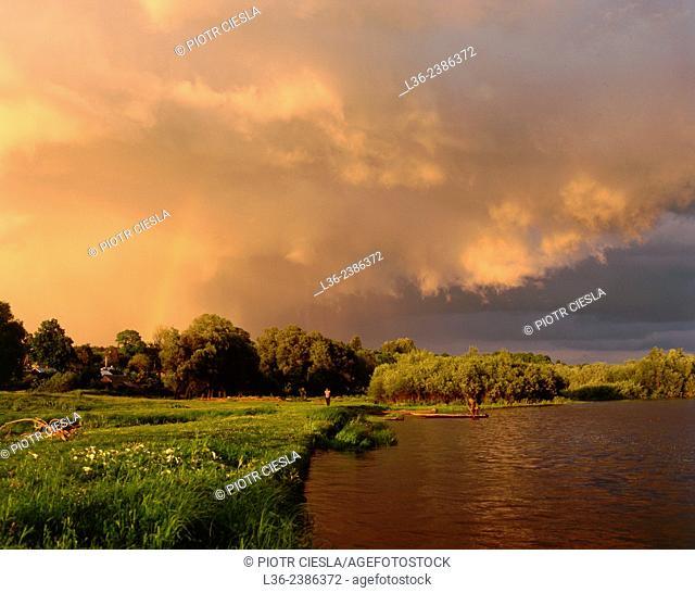 Poland. Podlasie region. Bug river