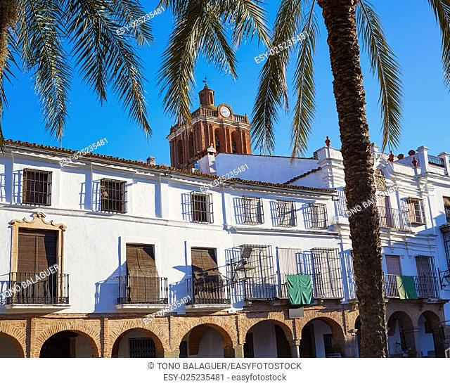 Zafra Plaza Grande in Spain Extremadura by the Via de la Plata way