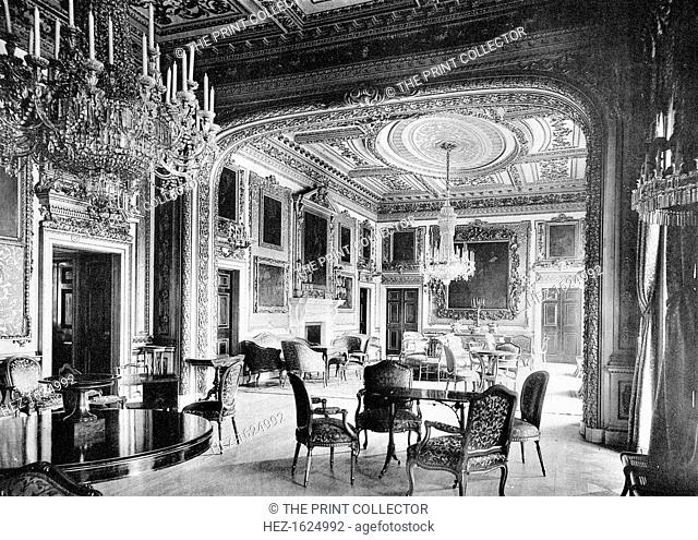 The ballroom, Devonshire House, 1908. A photograph from The Private Palaces of London by E Beresford Chancellor, (Kegan Paul, Trench, Trubner and Co, London