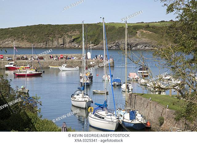 Port and Harbor at Cemaes; Anglesey; Wales; UK