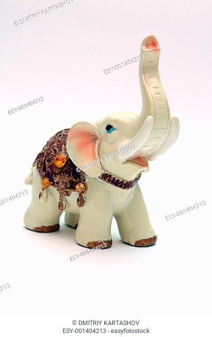Porcelain figurine elephant Stock Photos and Images   age