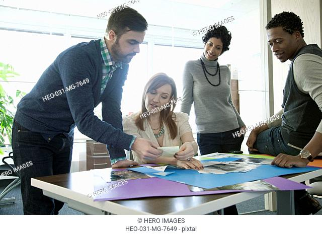 office group in discussion