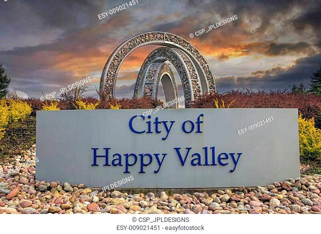 City of Happy Valley Sign