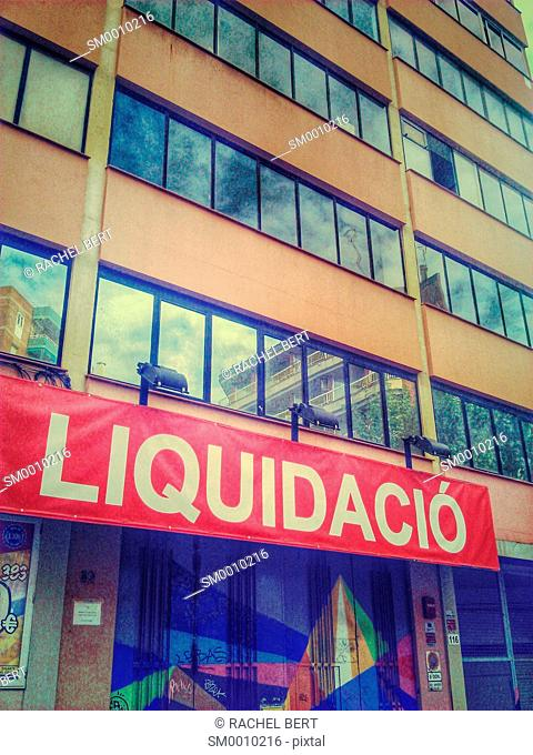 Sign, urban scene, 22@, Poblenou, Catalonia, Barcelona