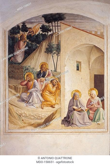 The Prayer in the Garden of Gethsemane, by Guido di Pietro (Piero) known as Beato Angelico, 1438 - 1446 about, 15th Century, fresco