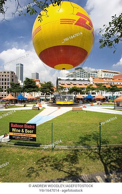 DHL tethered balloon base near Rochor Road Singapore
