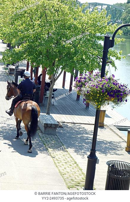 Mounted Policeman, Erie Canal, Pittsford, New York, United States