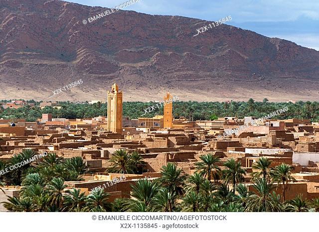 Panorama of Figuig, province of Figuig, Oriental Region, Morocco