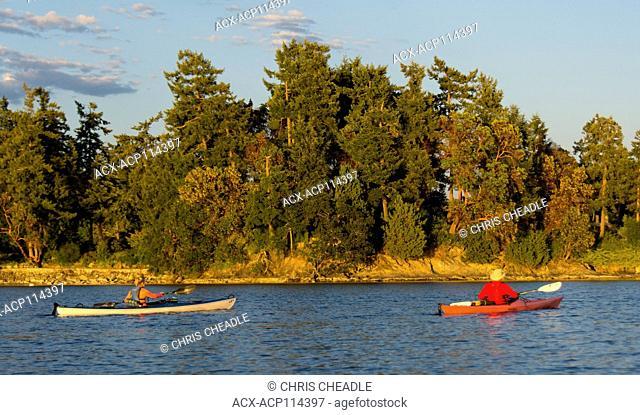 Kayaking in Saanich Inlet, British Columbia, Canada