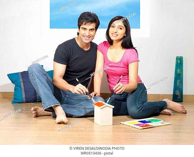 Couple dreaming dream planning their house , MR779L , MR779M