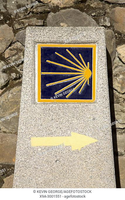 Camino de Santiago - St James Way Sign; Astorga; Spain