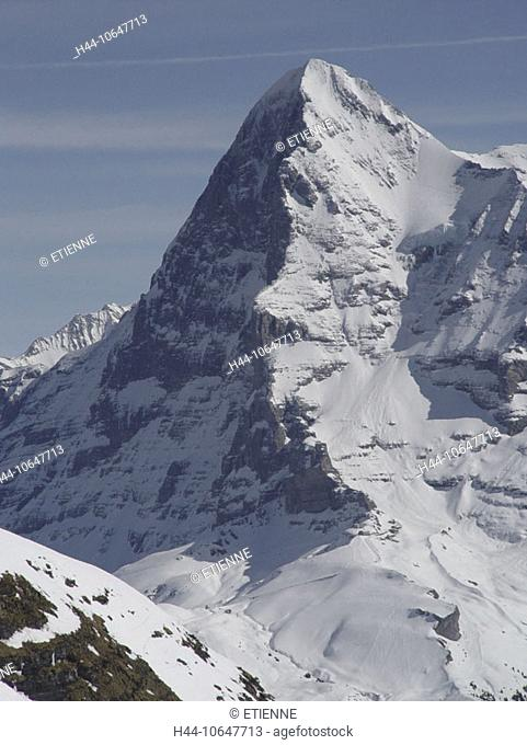 10647713, alpine, Alps, mountains, Bernese Oberland, Eiger, mountain, Eigernordwand, canton Bern, scenery, north face, snow, S