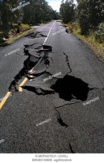 Damage caused by EARTHQUAKE of 1978, Hawaii, Hawaii Volcanoes National Park