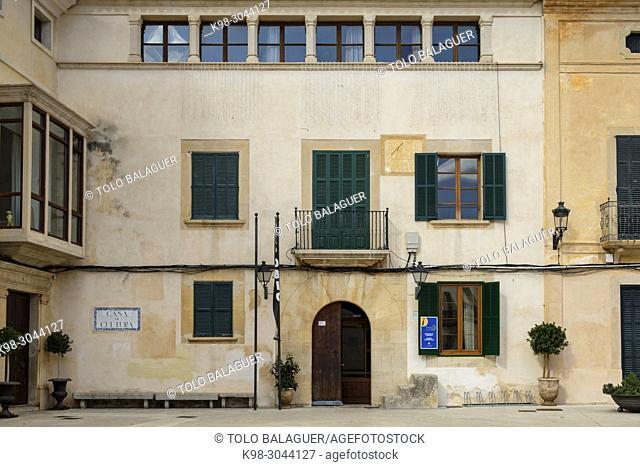 Can Prohens, Casa de Cultura Can Prohens, Felanitx, Mallorca, balearic islands, Spain