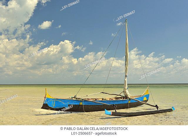 Indian ocean beach in Madiorano, Madagascar