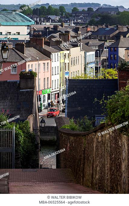 Ireland, County Cork, Cork City, elevated city view from St. Patrick's Hill in Shandon