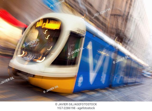 Streetcar of Milan, Lombardy, Italy