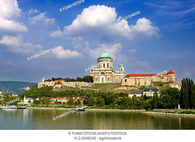 Exterior of the Neo Classical Esztergom Basilica, Cathedral ( Esztergomi Bazilika ), Hungary