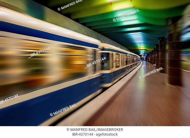 U-Bahn, underground station, Klinikum-Großhadern, Munich, Bavaria, Germany