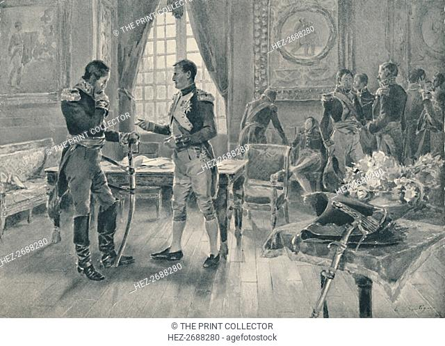 'Meeting of Napoleon and Tolstoi in Paris, 1807', (1896). Artist: Unknown