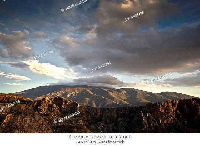 View of the Sierra Nevada mountain's, Alpujarra's, Province of Granada, Spain