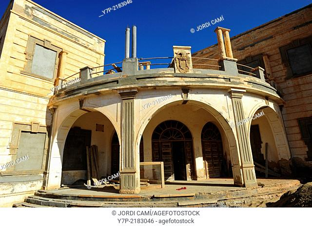 Restoration of the old Spanish Consulate. Sidi Ifni. Morocco .North Africa