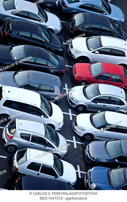 Parking in Barcelona, Catalonia, Spain