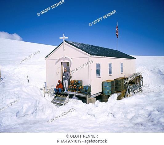 British Antarctic Survey summer only base Damoy, on Wiencke Island, Antarctic Pensinula, Antarctica, Polar Regions