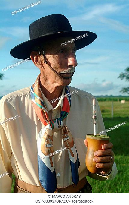 a man gaucho wearing traditional clothes