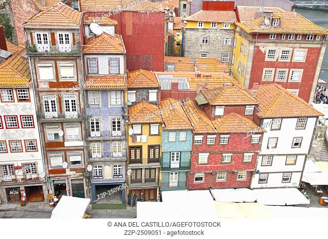 Typical buildings of Ribeira, Porto, Portugal
