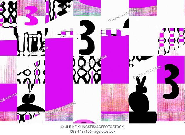 three abstract, number three