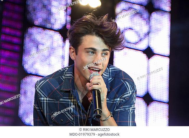 "Italian singer Riki Marcuzzo performs at the """"Radio Bruno Estate 2017"""". Modena (Italy), July 25, 2017"
