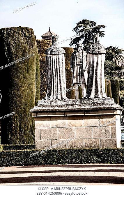 Gardens at the Alcazar de los Reyes Cristianos in Cordoba, Spain