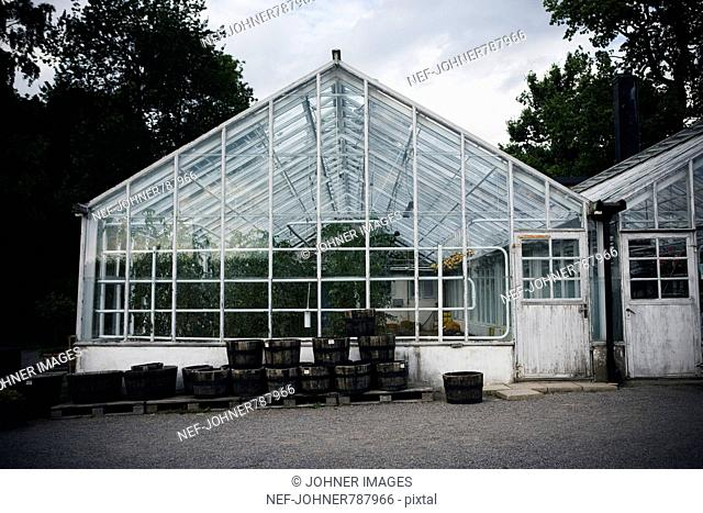 A glasshouse by Rosendal's garden, Stockholm, Sweden